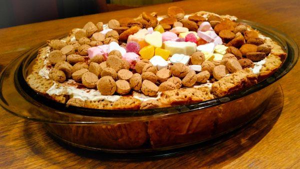 Pepernoten Trifle met speculaaslikeur en taaitaai