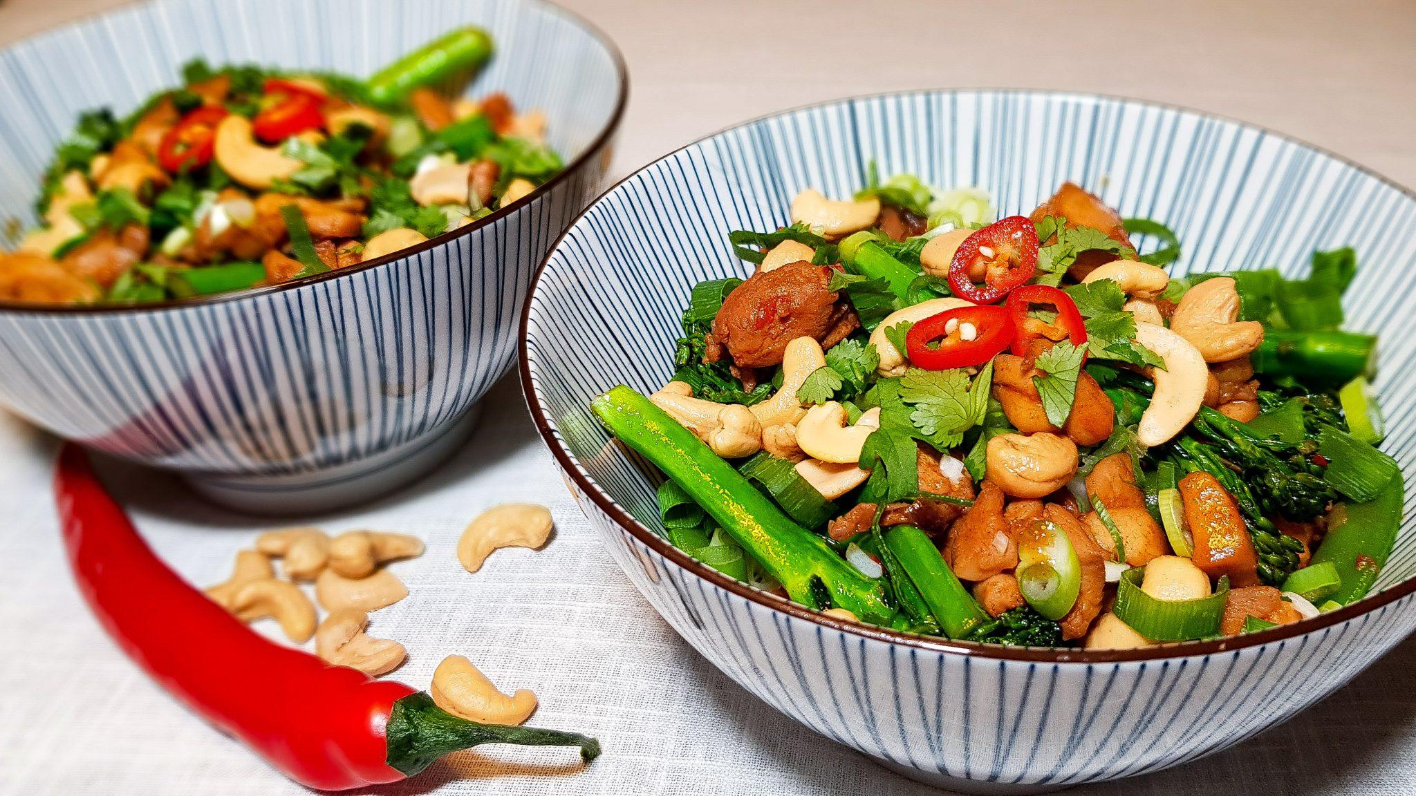 Knorr Wereldgerechten: Kip Siam met sugarsnaps en bimi