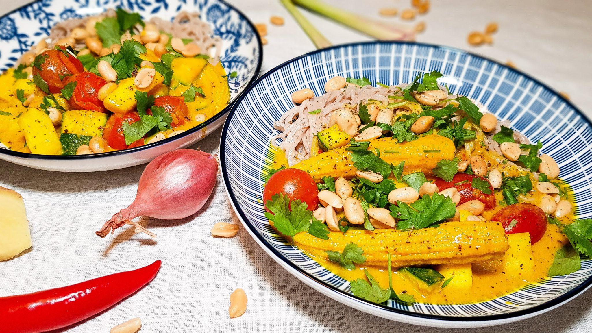Gele groentencurry uit Thailand