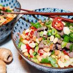 Vietnamese Beef Noodle Salade (Bun Bo Xao)