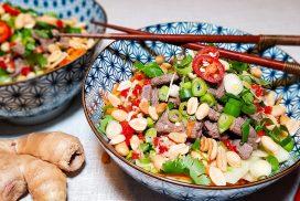 Vietnamese Beef Noodle salade