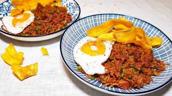 Surinaamse nasi met zoutvlees