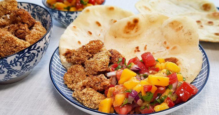 Zachte taco's met crispy kabeljauw