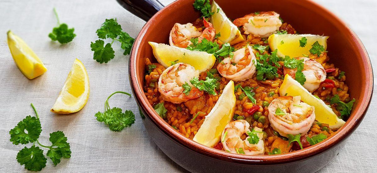Knorr Wereldgerechten: Paella met kip, chorizo en garnalen