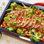 Thaise rosbief salade