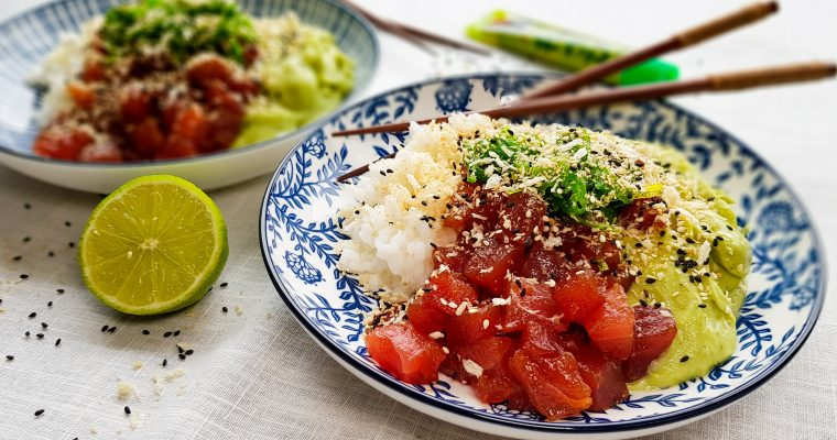Verse tonijn met avocadopuree