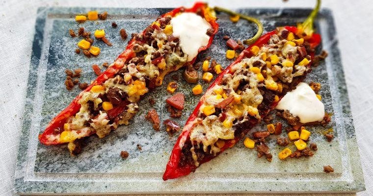 Mexicaanse gevulde paprika's