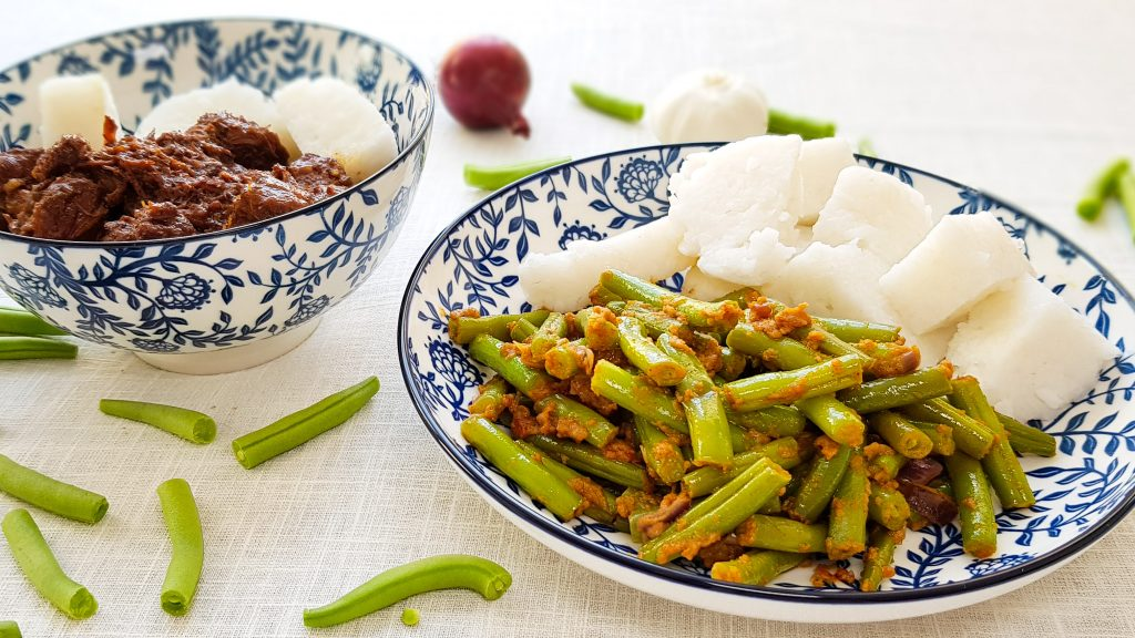 Sajoer boontjes (pittige Indische sambal boontjes)
