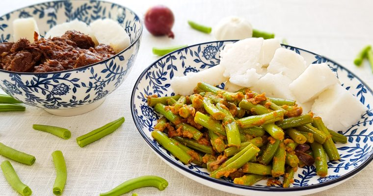 Sajoer boontjes (Indonesische sambal boontjes)