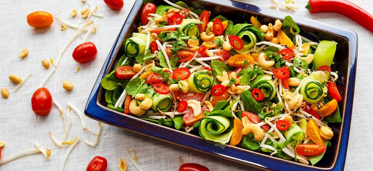 Thaise salade met komkommer