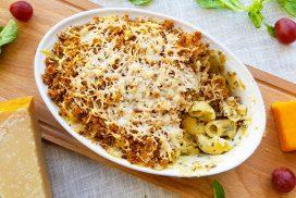 Macaroni met blauwe kaas uit de oven