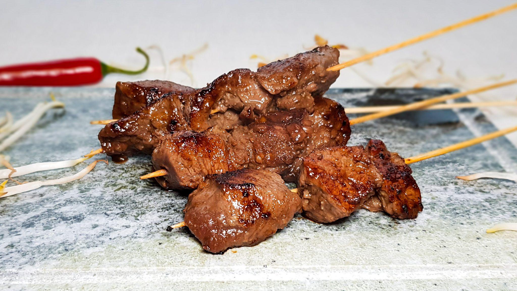 Saté's van biefstuk
