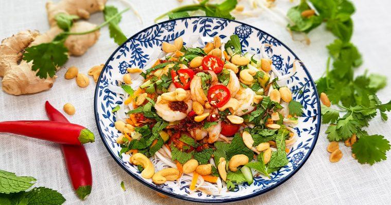 Vietnamese gamba salade