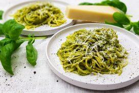 Pasta pesto verde - Pasta met groene pesto