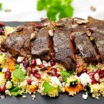 Ribeye steak met couscous salade