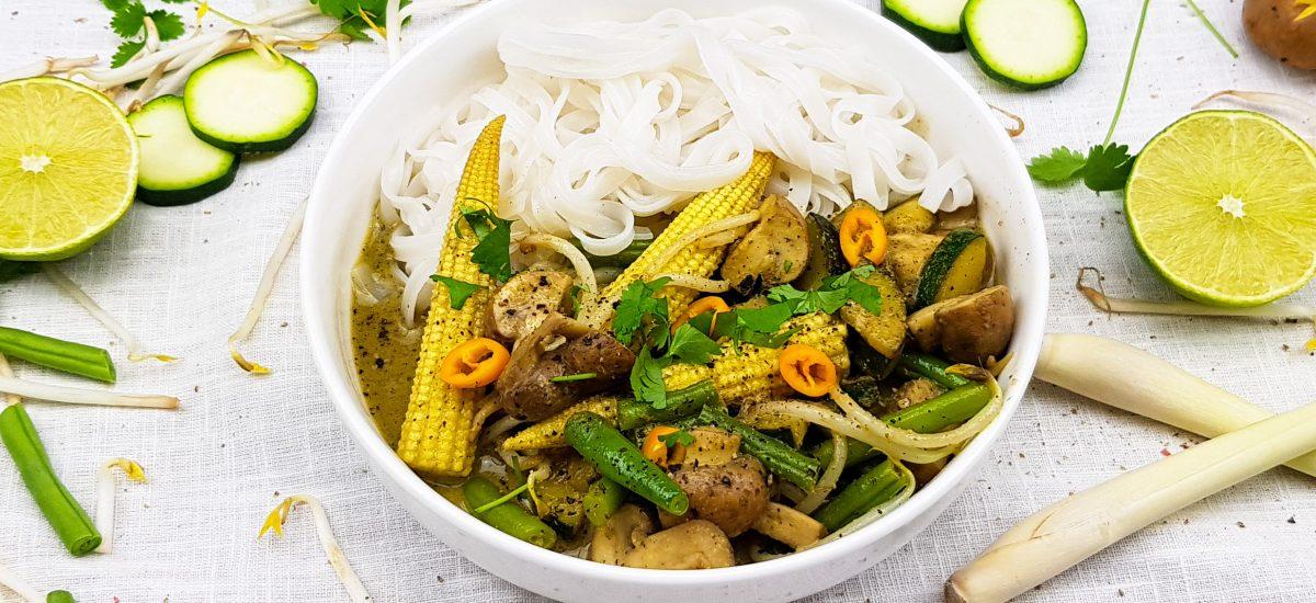 Thaise groene groentencurry