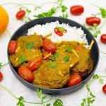 Confit de canard sinaasappel curry