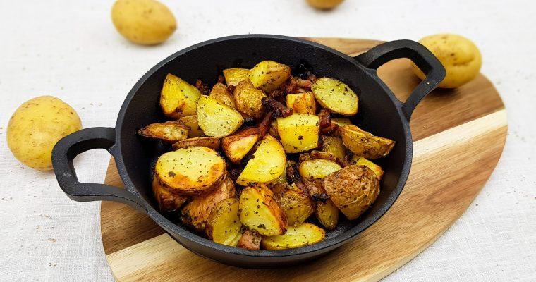 Aardappeltjes met spek uit de oven