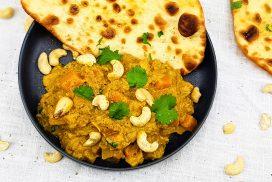 Jackfruit curry met pompoen en cashewnoten