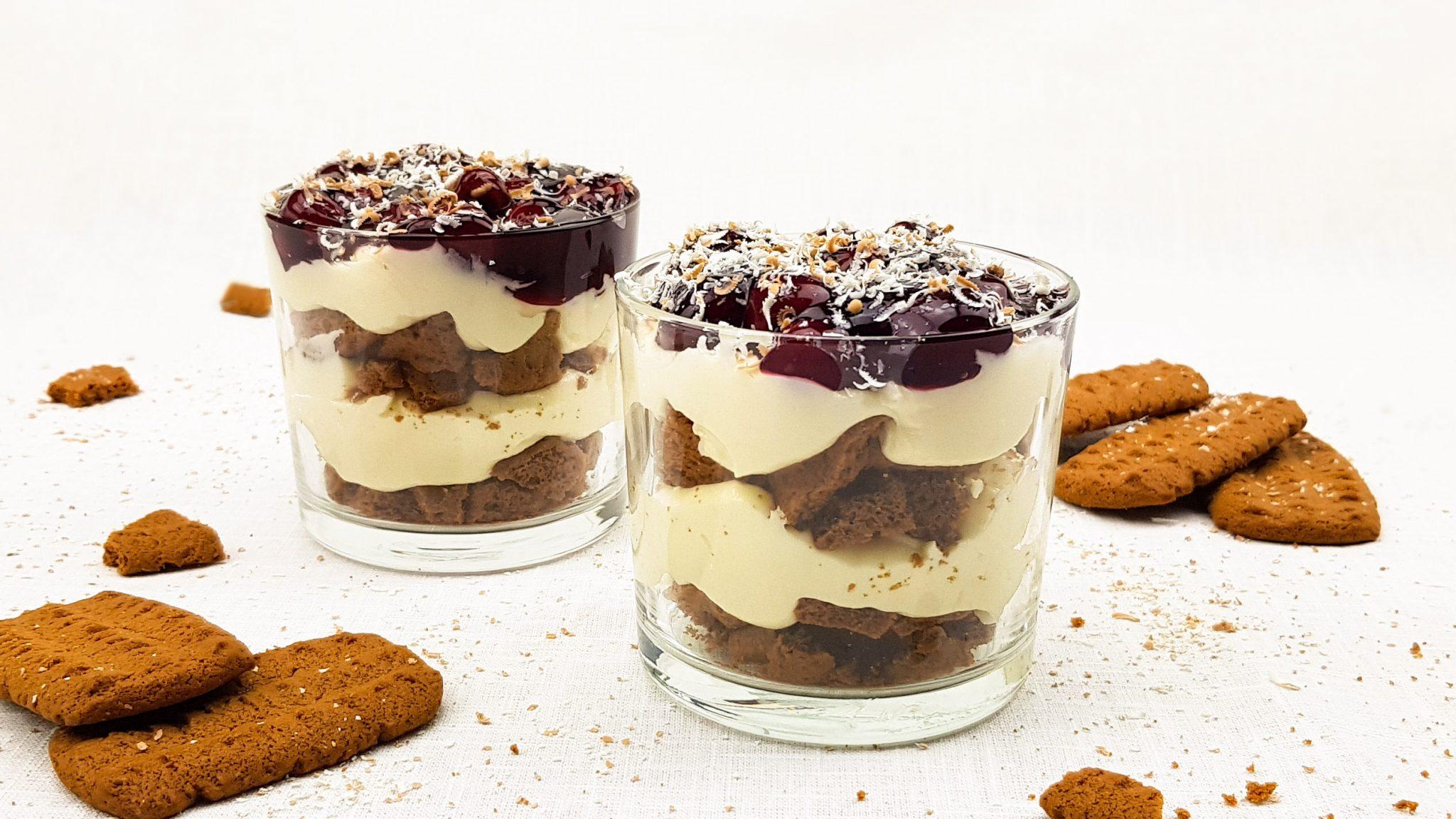 Monchou toetje met witte chocolade