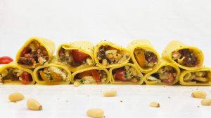 Lasagne rolletjes met caprese vulling