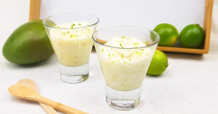 Mango mousse met limoen en yoghurt