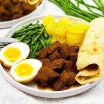 Roti met rundvlees masala