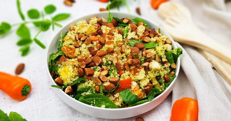 Couscous salade met mango en halloumi