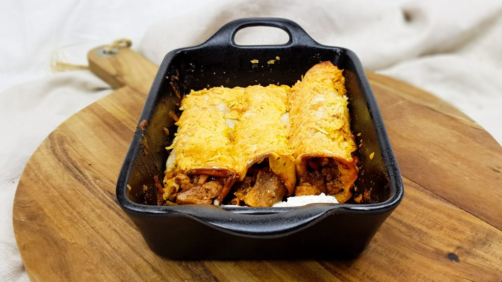 Knorr burrito's met kip, rode paprika en burrito saus