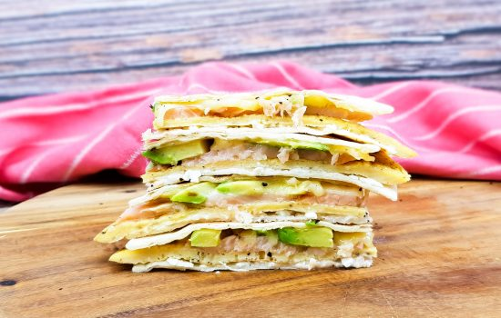 Lunch quesadilla's met gerookte zalm