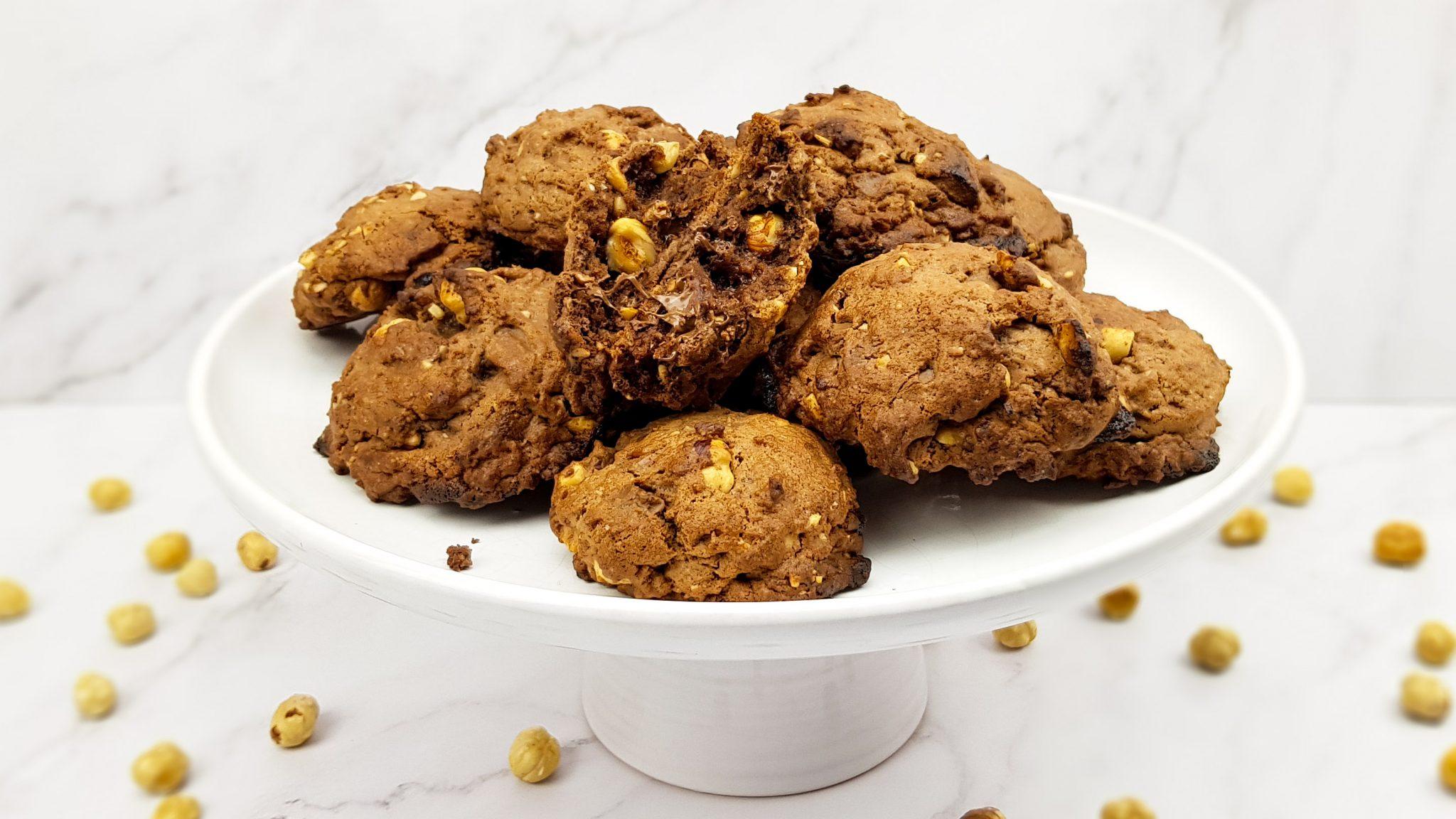 Chocoladekoekjes met hazelnoten