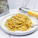 Cacio e pepe: Spaghetti in romige saus