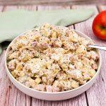 Aardappelsalade met feta, appel en walnoten