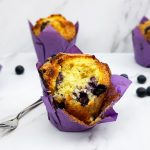 Blueberry muffins met witte chocolade