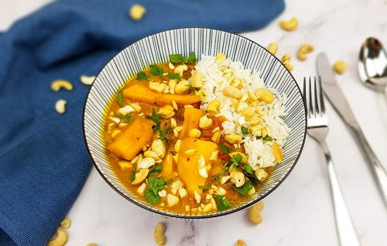 Mango curry met tomaat