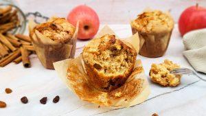Appel kaneel muffins met rozijnen