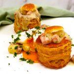 Pasteitjes met witte asperges en ham
