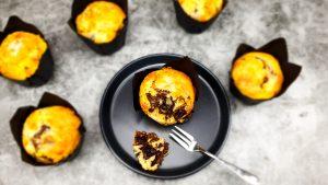 Vanillemuffins met pure chocolade