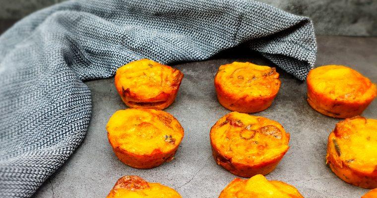 Mini Spaanse aardappeltortilla's met chorizo