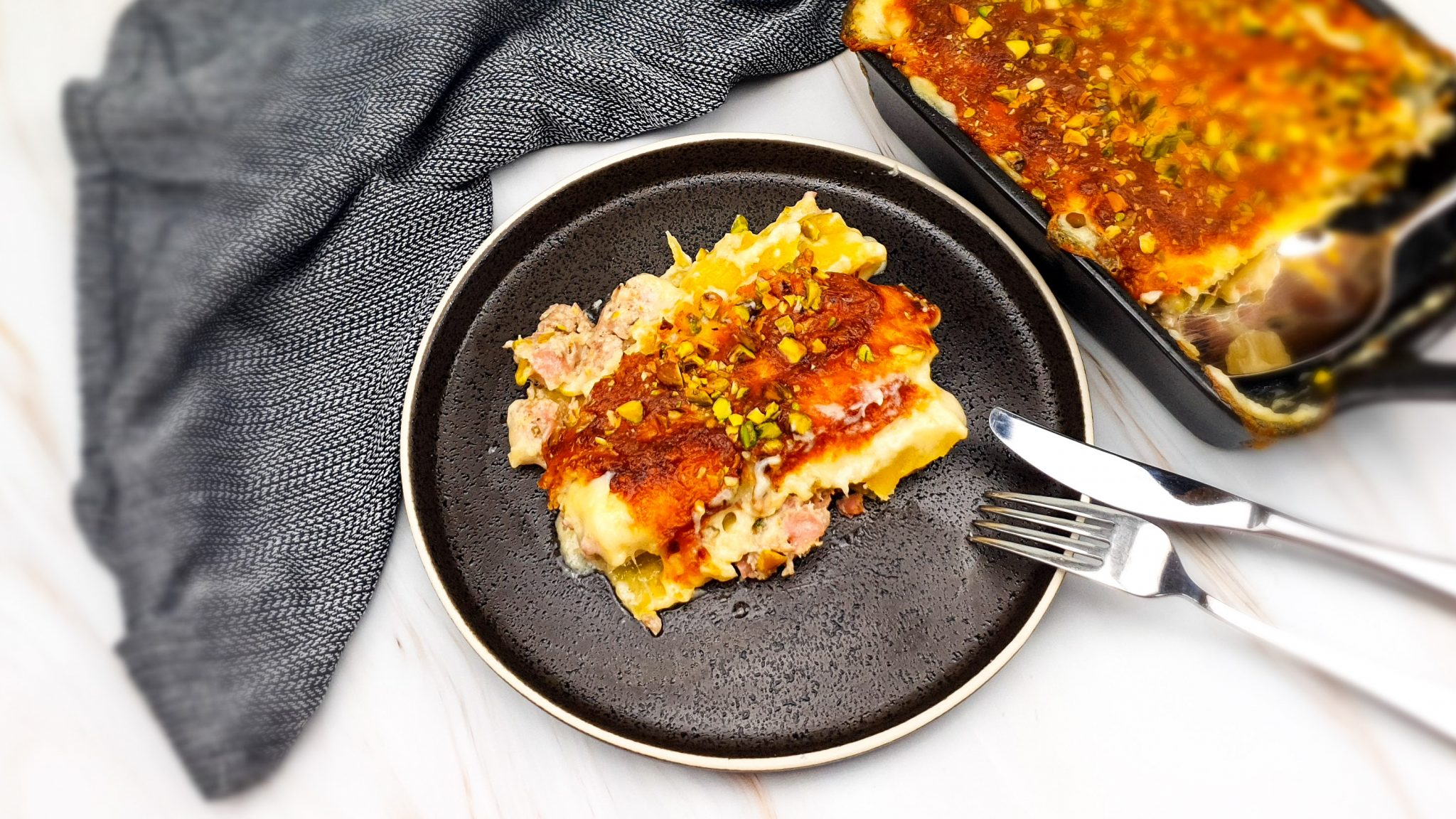 Cannelloni met mortadella en pistachenootjes