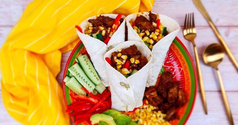 Spareribs fajita's met verse groenten