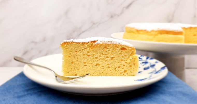 Japanse cheesecake met vanille