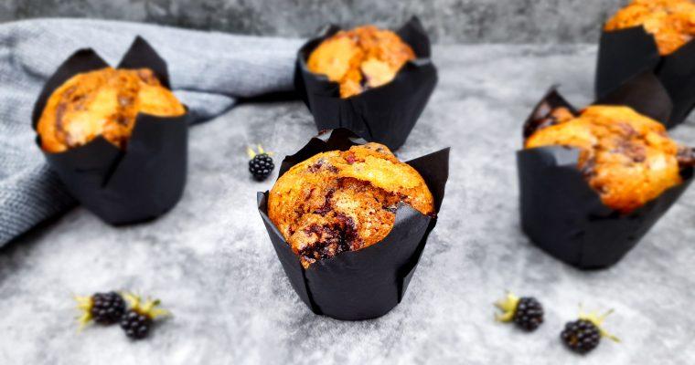 Bramen muffins met pure chocolade