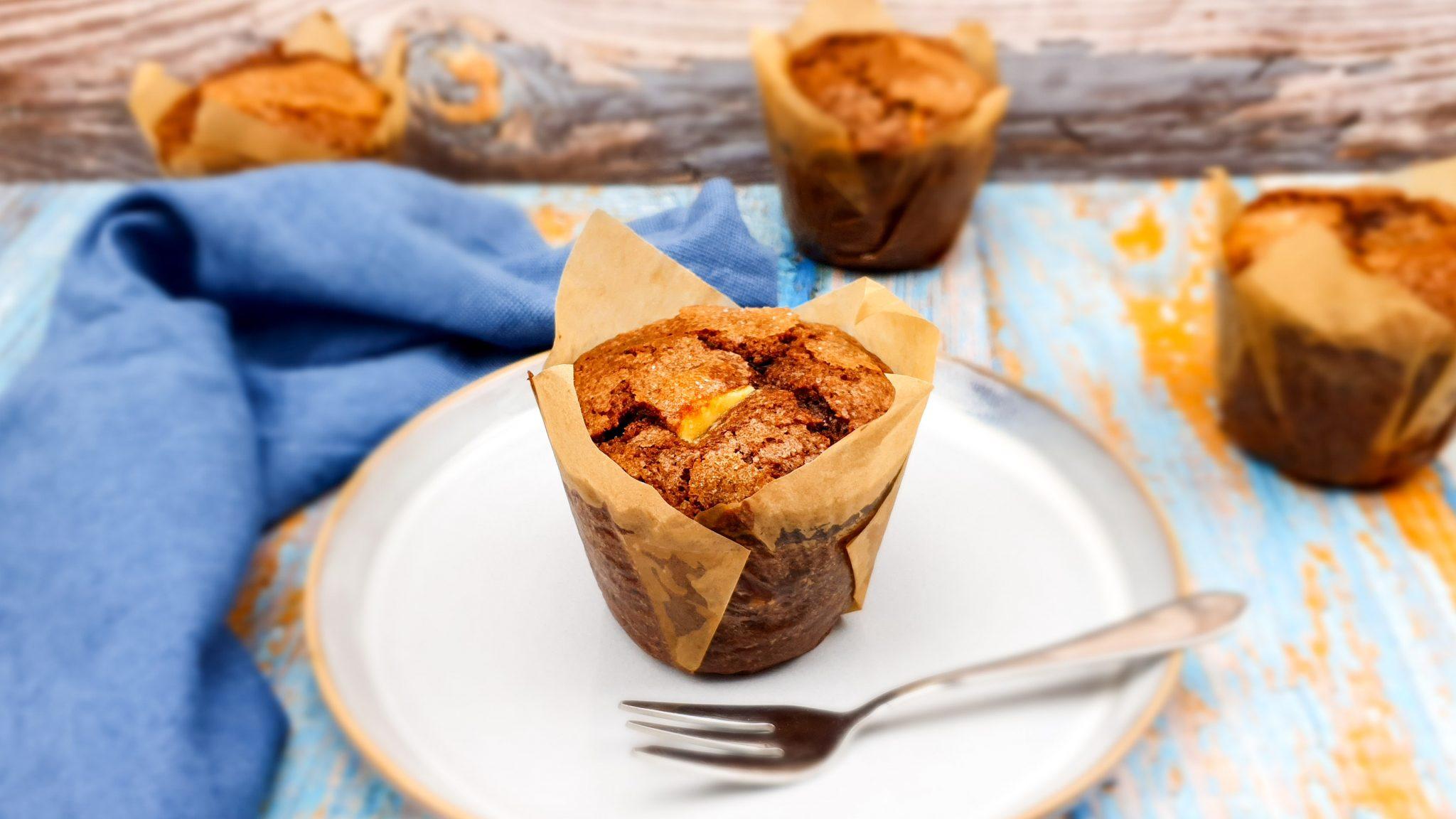 Triple chocolate chocolade muffins