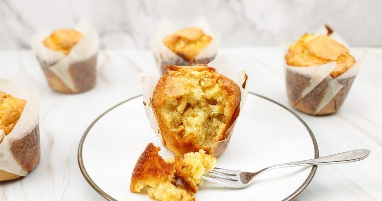Witte chocolade macademia muffins
