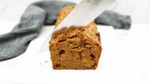 Appel kaneel cake met nougatine