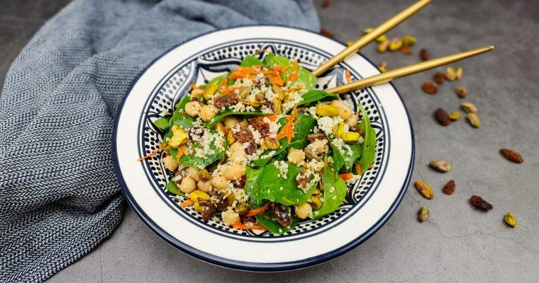 Marokkaanse salade met kikkererwten