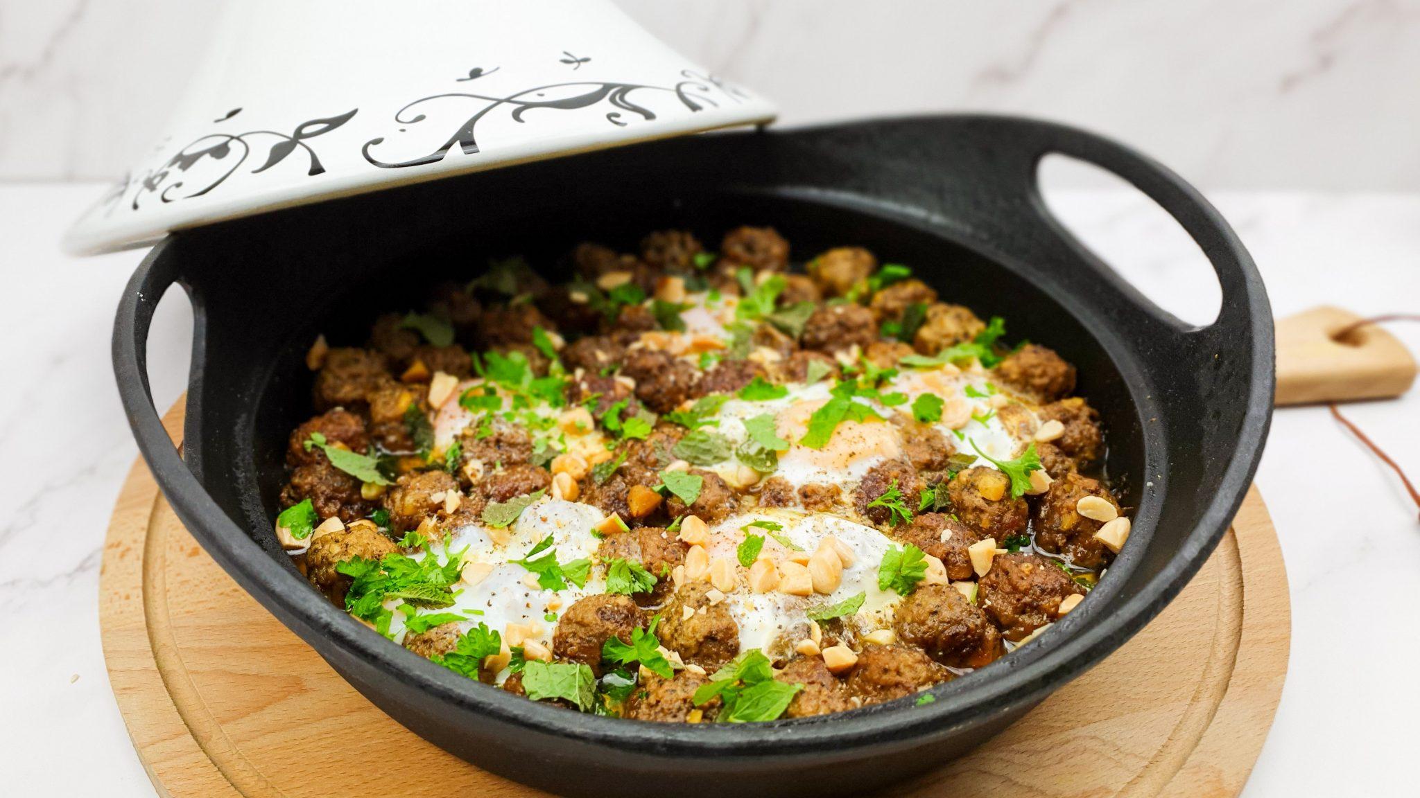 Kefta tajine met eieren