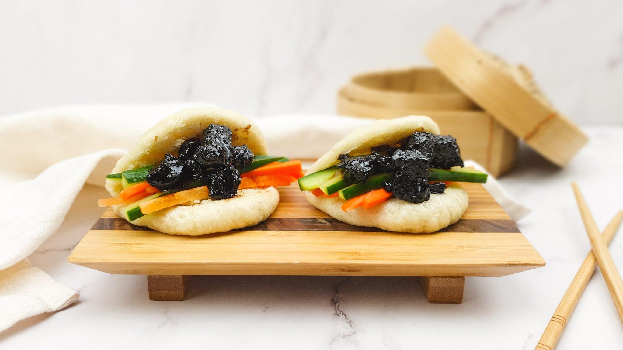 Bao buns met chinees varkensvlees