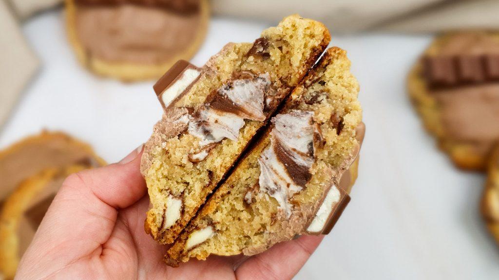 Kinderchocolade cookie met duo penotti vulling
